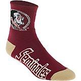 febc0ca8 For Bare Feet Men's Florida State University Team Color Quarter Socks