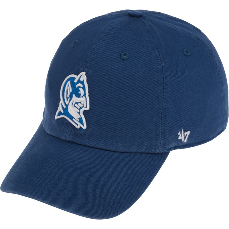 The '47 Adults' Duke University Clean Up Cap is made of garment-washed cotton twill and features raised team graphic embroidery. Available at Academy Sports + Outdoors.