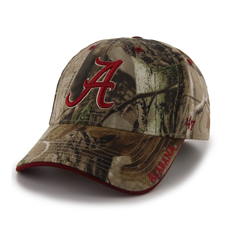 '47 Men's University of Alabama Realtree Frost Cap (Green Dark, Size One Size) – NCAA Licensed Product, NCAA Men's Caps at Academy Sports