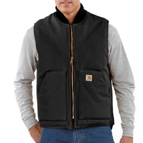 Carhartt Men's Duck Arctic-Quilt-Lined Vest (Black 04, Size XXX Large) - Men's Work Apparel, Men's Work Over/Coveralls at Academy Sports thumbnail