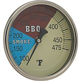 "Old Country BBQ Pits 4"" Adjustable Temperature Gauge"
