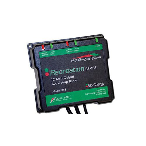 Dual Pro Recreation Series 2-Bank Battery Charger