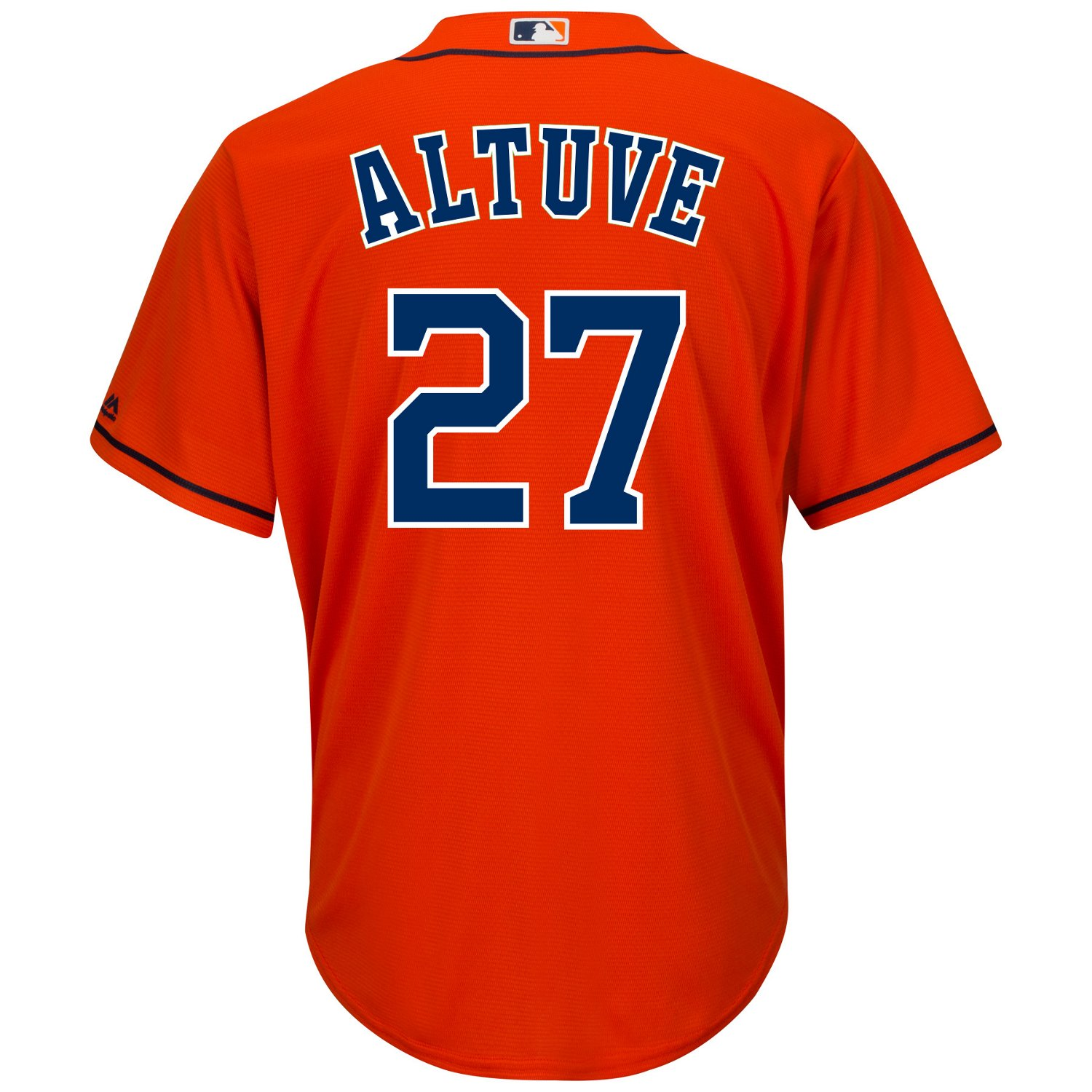 the latest fbcb3 250ee Majestic Men's Houston Astros Jose Altuve #27 Cool Base® Replica Jersey