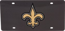 Stockdale New Orleans Saints Carbon Fiber Logo License Plate