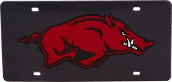 Stockdale University of Arkansas Glitter License Plate