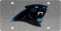 Stockdale Carolina Panthers Glitter Logo License Plate
