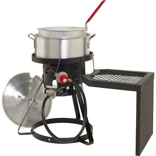 Outdoor Gourmet 10 qt Fish Fryer Set with Side Table