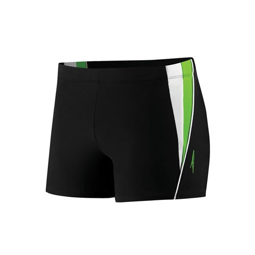 Speedo Men's Fitness Splice Square Leg Swim Trunk