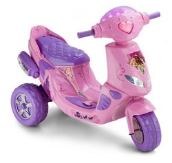 KidTrax Girls' Disney Princess Twinkling Electric Scooter