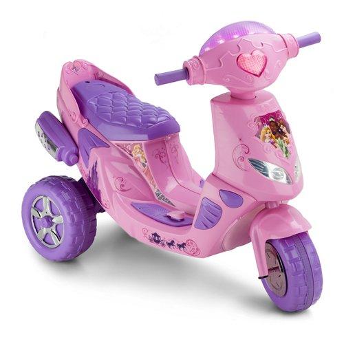 KidTrax Girls' Disney Princess Twinkling Electric Scooter