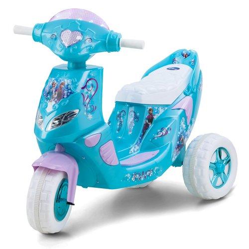 KidTrax Girls' Disney Frozen Electric Scooter