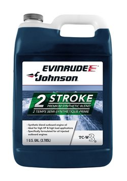 Evinrude Johnson 1-Gallon Premium TC-W3® Semi-Synthetic Oil