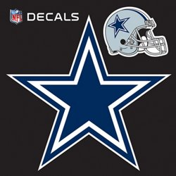 "Stockdale Dallas Cowboys 12"" x 12"" Repositionable Logo/Bonus Decal"