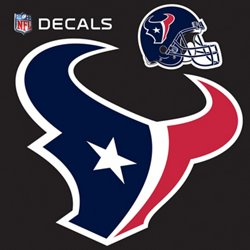 "Stockdale Houston Texans 12"" x 12"" Repositionable Logo/Bonus Decal"
