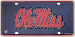 Rico University of Mississippi #1 Fan Auto Tag
