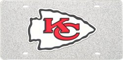 Stockdale Kansas City Chiefs Glitter Logo License Plate