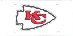 Stockdale Kansas City Chiefs Mirror Logo License Plate