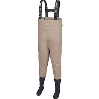 MAGELLAN beige Breathable Stockingfoot Chest Wader,youth size L