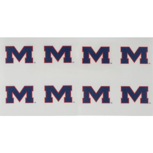 Rico University of Mississippi Face Tattoos 8-Pack