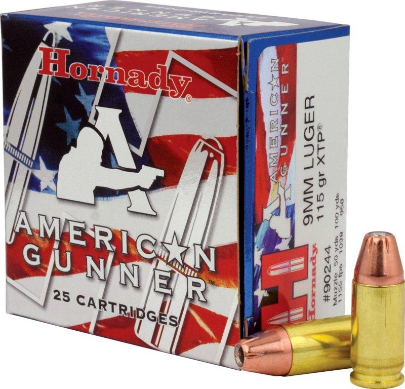 Hornady Xtp American Gunner 9mm Luger 115-Grain Handgun Ammunition – Pistol Shells at Academy Sports