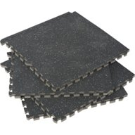 BCG Commercial-Grade Gym Flooring Tiles 4-Pack