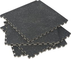 Commercial-Grade Gym Flooring Tiles 4-Pack