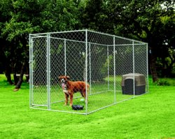 Aspen Pet Chain-Link Outdoor Dog Run
