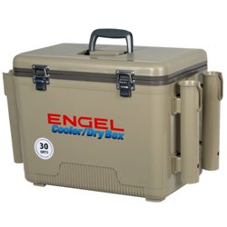 30 qt. Cooler/Dry Box with Rod Holders