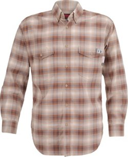 Men's Flame Resistant Twill Plaid Shirt