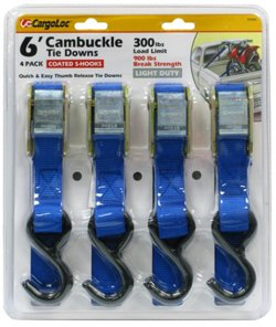 CargoLoc Cambuckle 6' Tie Downs 4-Pack