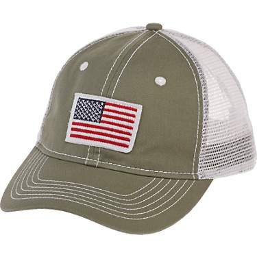 Academy Sports + Outdoors Men's American Flag Trucker Hat