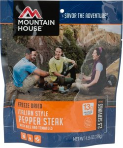 Mountain House® Freeze-Dried Italian-Style Pepper Steak with Rice and Tomatoes Pouch