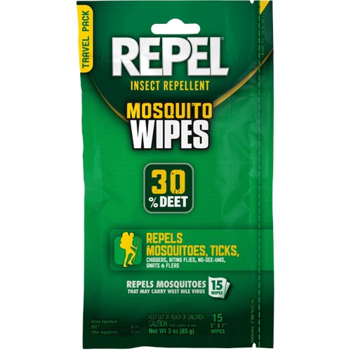 Repel Sportsman Formula Insect Repellent Wipes 15-Pack