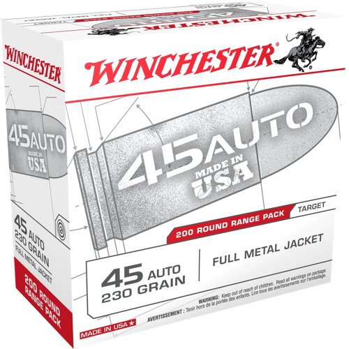 Winchester .45 ACP FMJ 230-Grain 200-round  Centerfire Pistol Ammunition