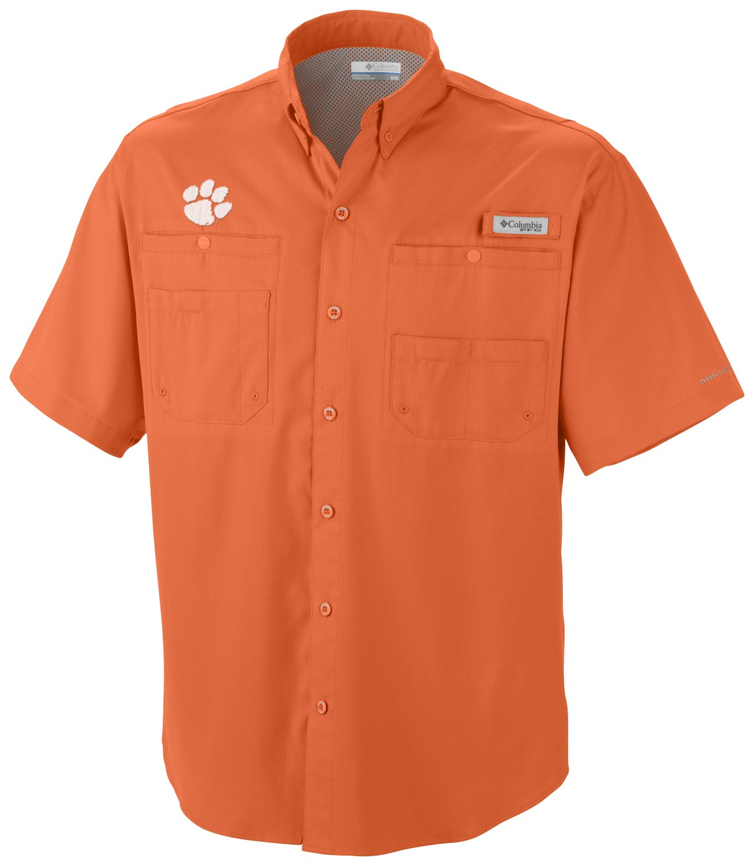 487836de Display product reviews for Columbia Sportswear Men's Clemson University  Tamiami Short Sleeve Fishing Shirt