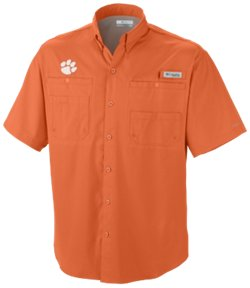 Columbia Sportswear Men's Clemson University Tamiami Short Sleeve Fishing Shirt