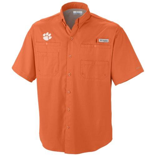 Columbia Sportswear Men's Clemson University Tamiami Short Sleeve Fishing Shirt