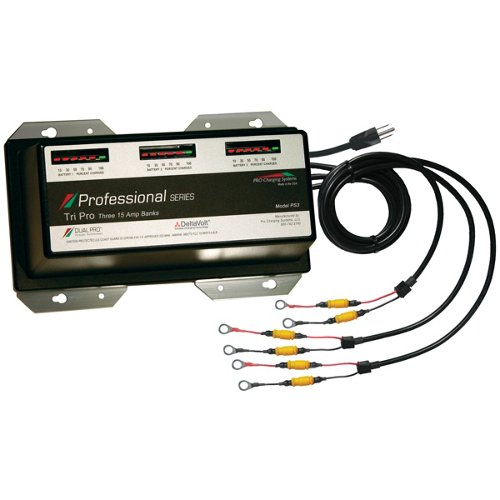 Dual Pro Professional Series 15amp  3-Bank On-Board Charger