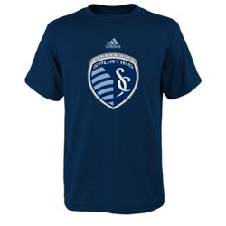 adidas™ Boys' Sporting Kansas City Team Logo Short Sleeve T-shirt