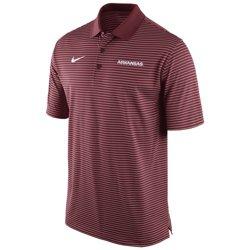 Nike Men's University of Arkansas Stadium Performance Polo Shirt