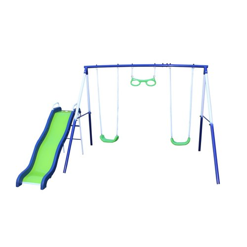 Sportspower Sierra Vista Metal Swing and Slide Set