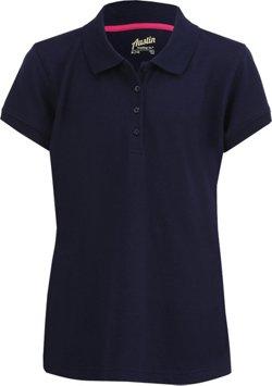 Austin Trading Co. Juniors' Uniform Short Sleeve Pique Polo Shirt