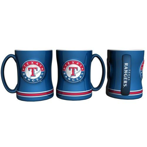 Boelter Brands Texas Rangers 14 oz. Relief Style Coffee Mug