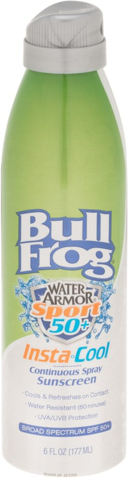 Bullfrog Water Armor® Sport Insta-Cool SPF 50 Continuous Spray Sunscreen