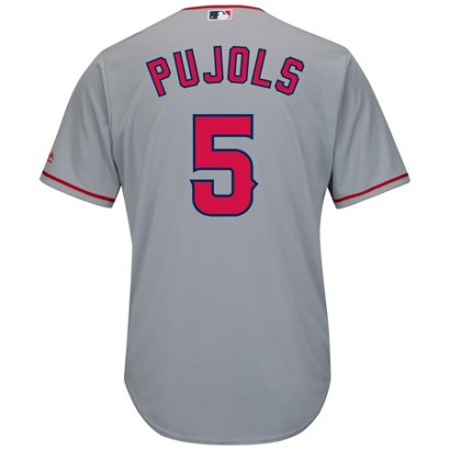39f4c955508 ... Los Angeles Angels Albert Pujols  5 Cool Base® Replica Jersey. Angels  Men s Apparel. Hover Click to enlarge