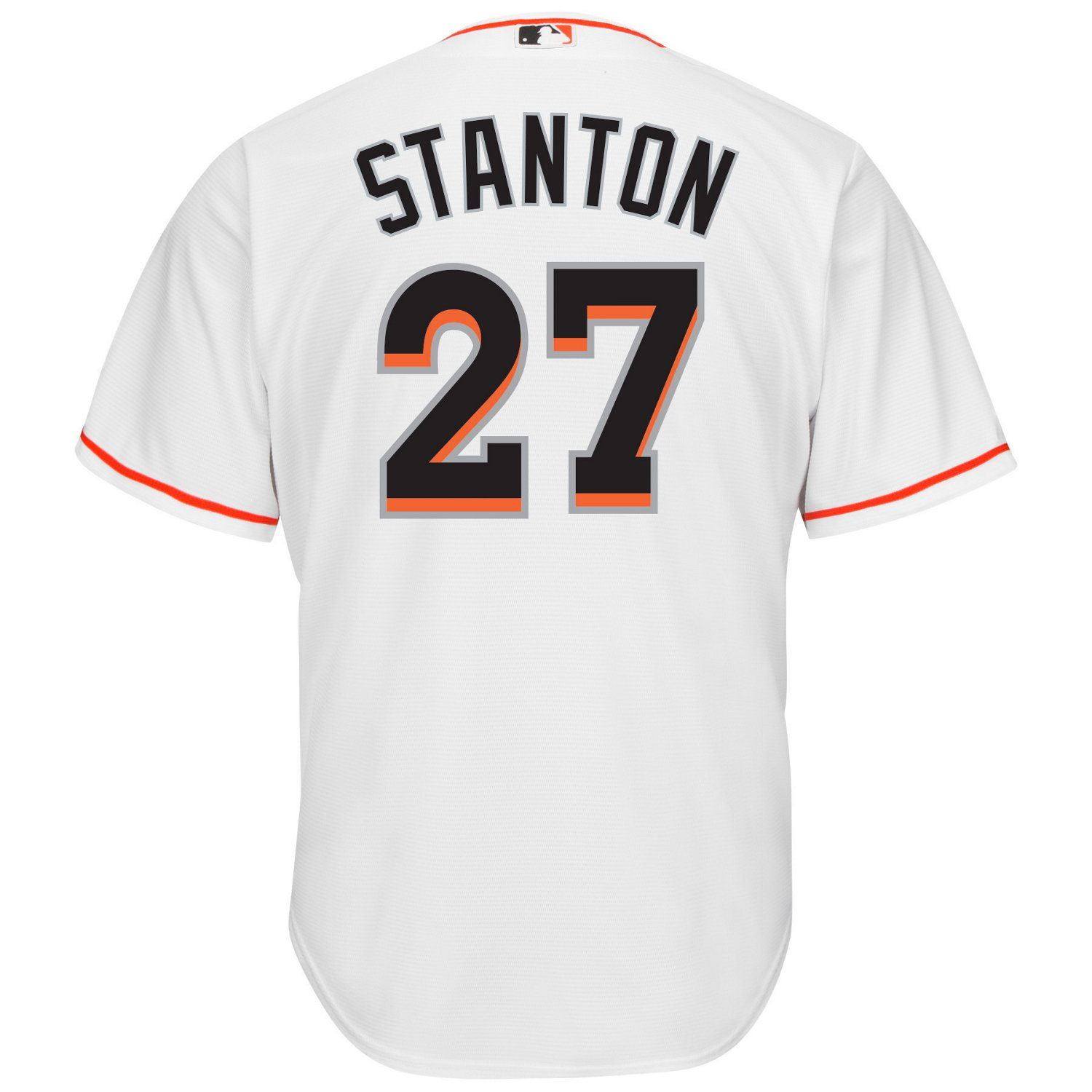 finest selection f695c 52445 Majestic Men's Miami Marlins Giancarlo Stanton #27 Cool Base® Jersey