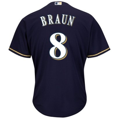 b7a1b0a5f ... Majestic Men s Milwaukee Brewers Ryan Braun  8 Cool Base® Alternate  Jersey. Brewers Men s Apparel. Hover Click to enlarge