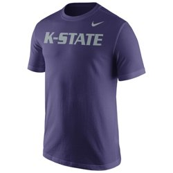 Nike™ Men's Kansas State University Cotton Short Sleeve Wordmark T-shirt
