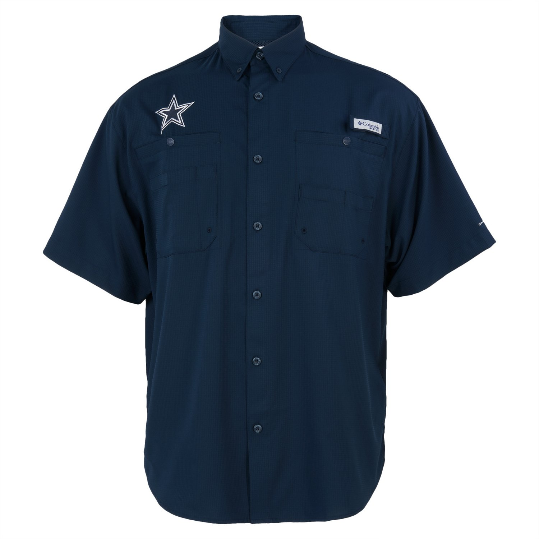 17086c370 Columbia Sportswear Men s Dallas Cowboys PFG Tamiami Fishing Shirt ...
