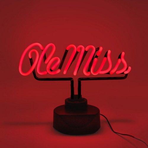 AES Optics University of Mississippi Table Top Neon Light